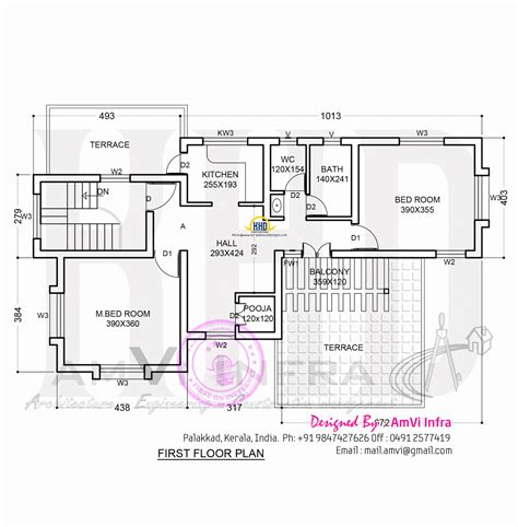floor plan and elevation of a house floor plan and elevation of sloping roof house home