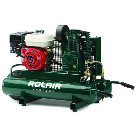 rolair 5 5 hp 9 gallon gas wheelbarrow air compressor w honda engine ebay