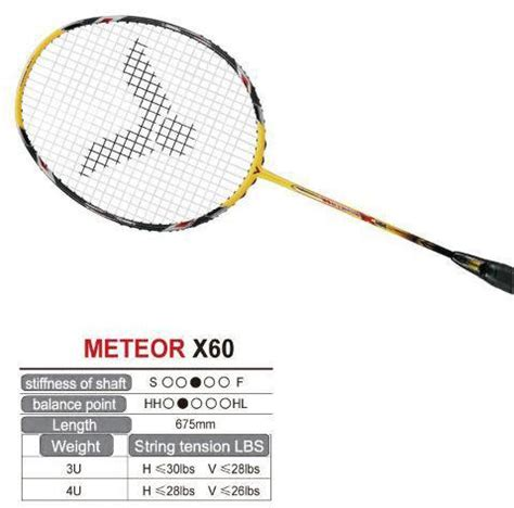 Raket Victor Meteor X60 victor meteor x 60 racquet x your local genuine racquet sports reseller