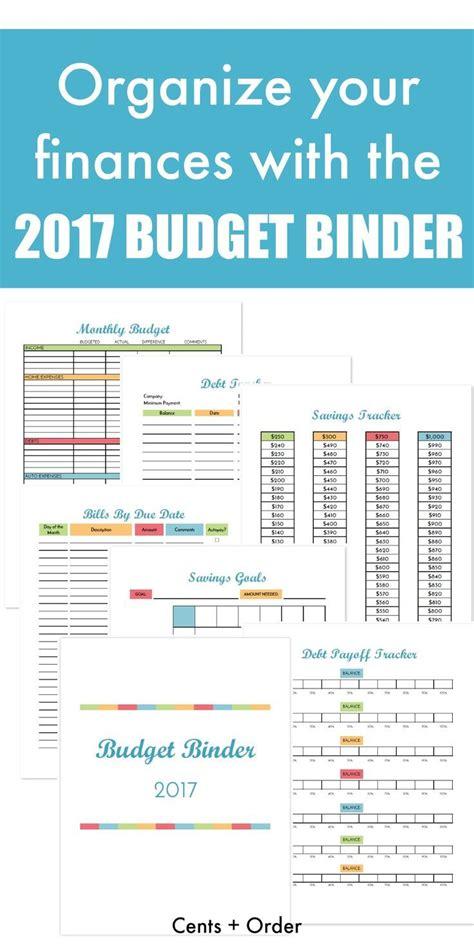 budget binder printable   organize  finances