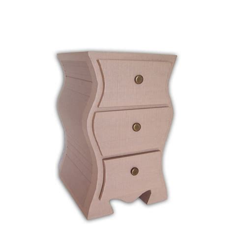 bedside table pre cut cardboard furniture kit
