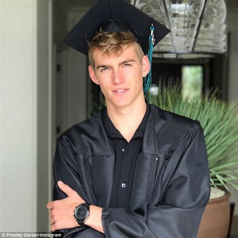 cindy crawford s son presley gerber graduates high