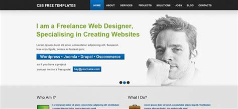 personal site template free light page 7 of 15 website css templates