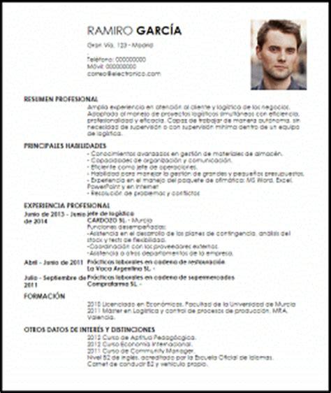 Modelo Curriculum Argentina 2017 Modelo Curriculum Vitae Jefe De Operaciones De Log 237 Stica Livecareer