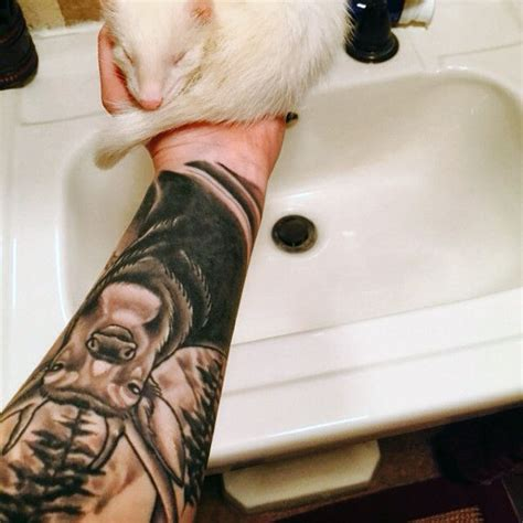 tattoos for men on lower arm 90 deer tattoos for manly outdoor designs
