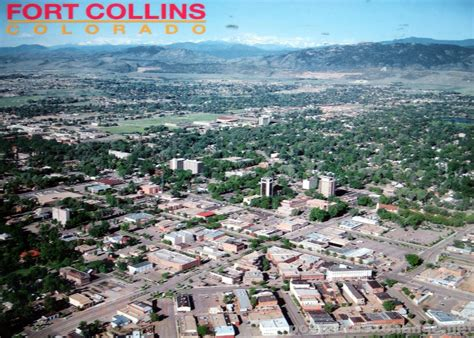 fort collins aerial view of fort collins postcard exchange postcard collection