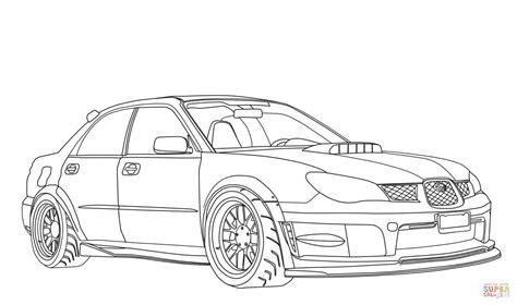Subaru Drawing Subaru Impreza Wrx Sti Coloring Page Free Printable
