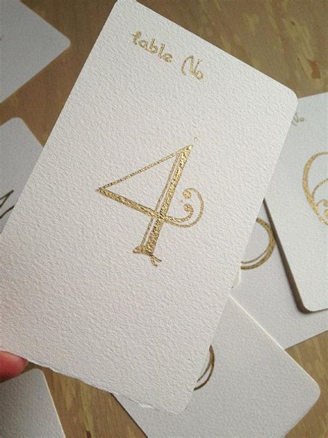gold calligraphy table numbers wedding table numbers handwritten calligraphy flat cards
