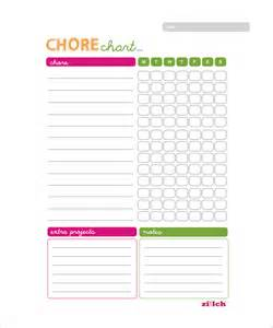 Chore List Template by Doc 600468 Chore List Template Sle Chore Chart 9