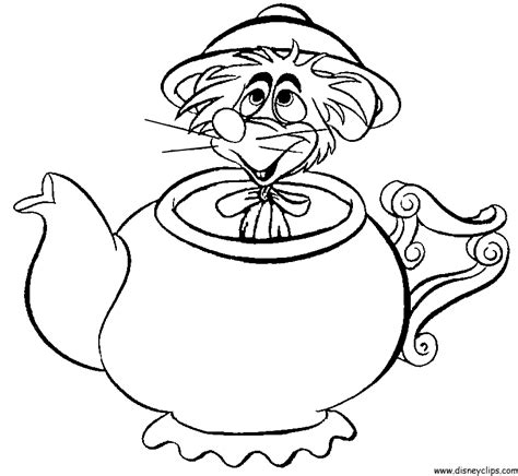 alice in wonderland coloring az coloring pages