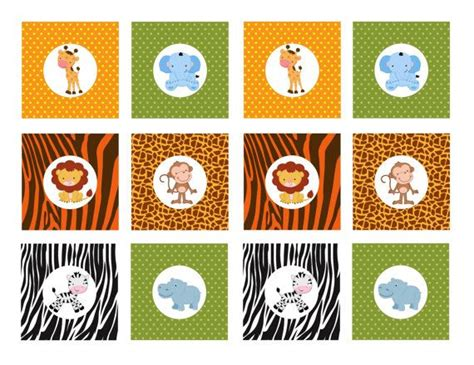 printable zoo animal cupcake toppers instant download printable safari animals cupcake toppers