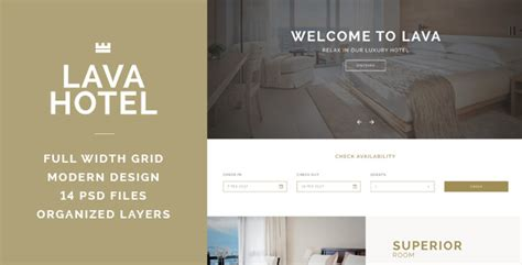 website template luxury hotels and carousels on pinterest lava luxury hotel psd template by sabosugi themeforest
