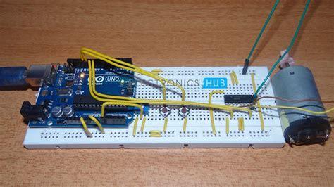 arduino dc motor direction dc motor with arduino