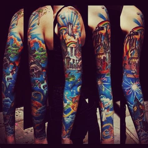disney sleeve tattoo 138 amazing disney tattoos photos