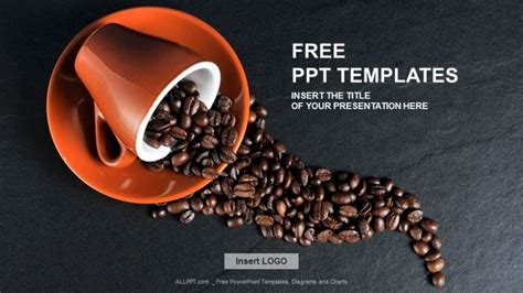 Coffee Powerpoint Template Free Grains Of Coffee Food Ppt Templates Download Free