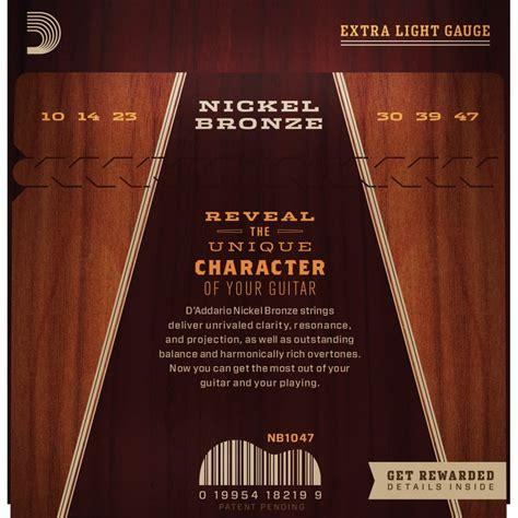 D Addario Nickel Bronze Acoustic Guitar Strings Custom Ex D Addario Light Acoustic Guitar Strings