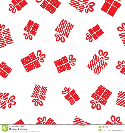 gift pattern background seamless vector gift pattern red gift boxes on stock