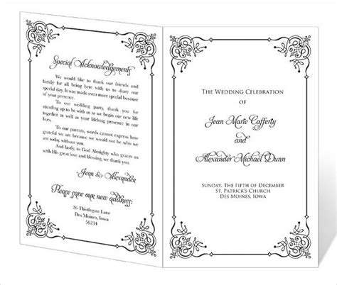 Wedding Program Template 64 Free Word Pdf Psd Documents Download Free Premium Templates Church Wedding Program Template