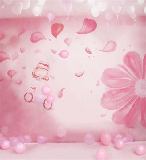 Wallpaper Gelombang Pink 10 Meter 45 Cm 10x10ft light pink balloons wall flowers petals wedding