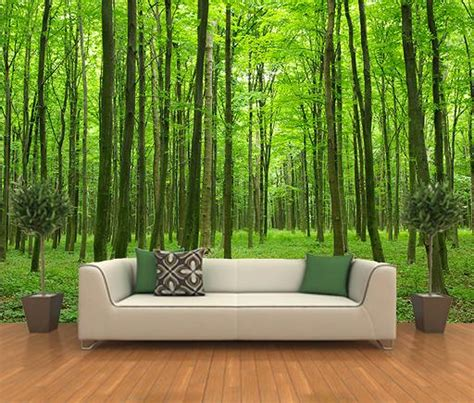 forest wallpaper for bedroom forest decorating mural home decor murals pinterest
