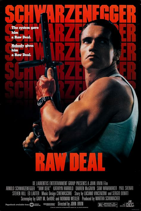 film action usa poster for raw deal 1986 usa wrong side of the art
