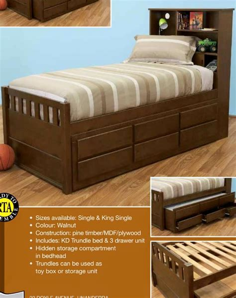 King Single Bed With Drawers by King Single Bed With Trundle And Drawers New Design