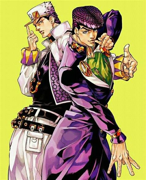 jojos bizarre adventure part 1421578816 josuke y jotaro jojo s bizarre adventure part 4 jjba jojo bizarre and animation