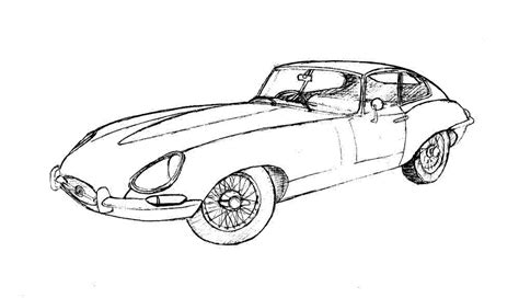 how to draw a jaguar car drawingforall net car drawings in pencil collection for free