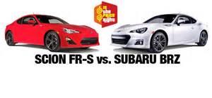 Toyota Frs Vs Subaru Brz Is The Price Right Scion Fr S Vs Subaru Brz Import