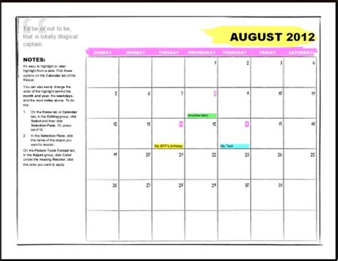 best photos of office calendar template microsoft office