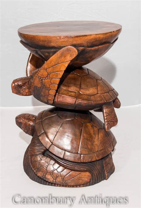 sea turtle table ls french hand carved sea turtle side table