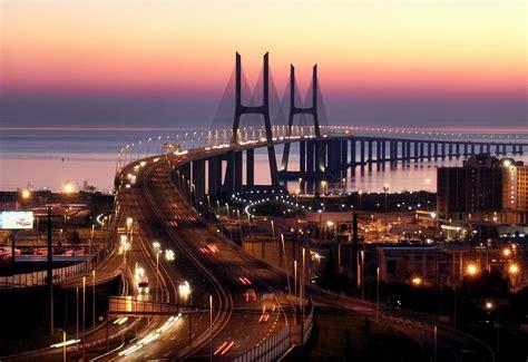 vasco da gama portugal vasco da gama bridge lisbon bridges portugal travel