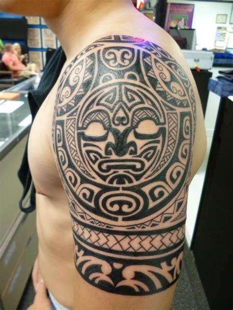 tattoo charlies preston polynesian half sleeve by lucky at charlies