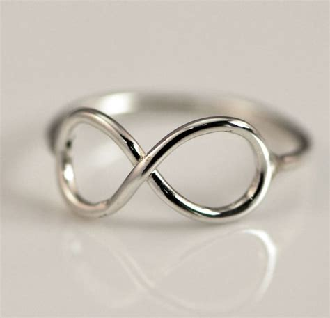 sterling silver infinity ring promise ring infinity