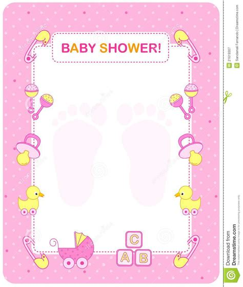 baby shower for baby shower card for royalty free stock photography