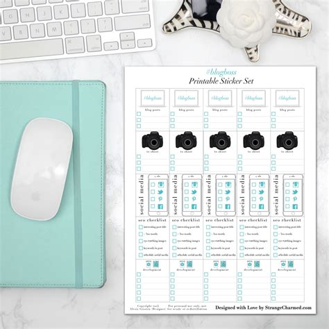 printable planner supplies the charmed life planner vertical planning supplies