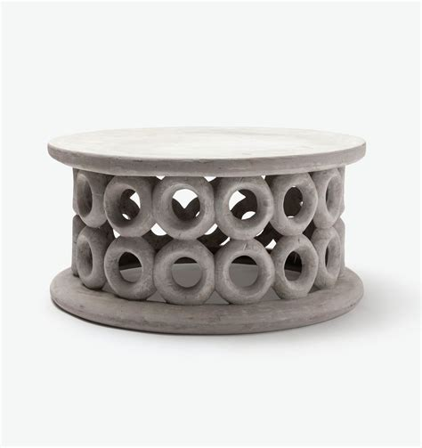 Dohnet Concrete Outdoor Coffee Table Mecox Gardens Concrete Outdoor Coffee Table