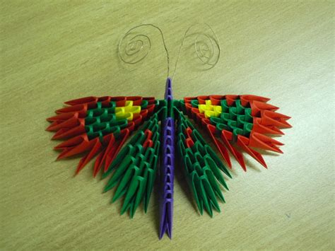 How To Make A 3d Origami Butterfly - 3d origami butterfly by bartlq on deviantart