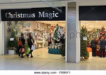 christmas decoration in a shopping mall many golden