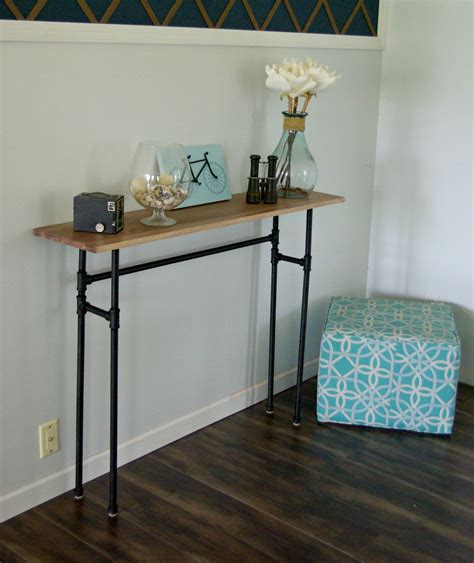black pipe sofa table how to build a rustic table galvanized pipes