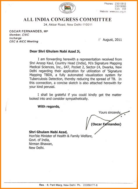 Recommendation Letter Signature 9 Recommendation Letter Signature Format Of Notice