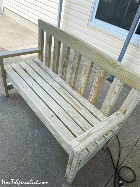 wood bench diy project howtospecialist