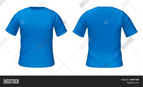 Color Tshirt blank t shirts template blue color image photo bigstock