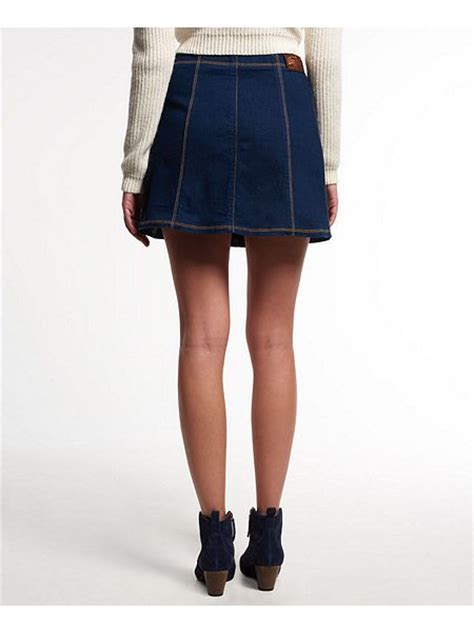 superdry 70s denim skirt house of fraser