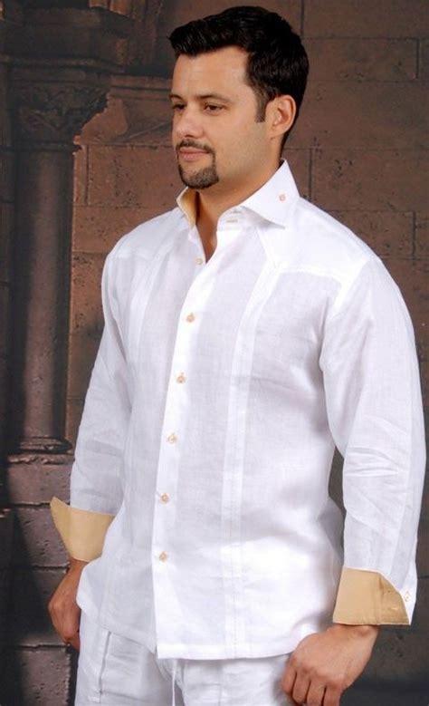 Cuban Shirt Design for wedding. Long Sleeve.   Latin Cuban