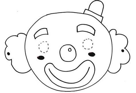 dibujos infantiles para colorear de payasos careta de payaso para colorear imagui