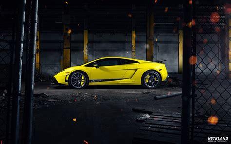 yellow and black lamborghini car lamborghini gallardo superleggera yellow side