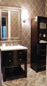 Grand Wood Faux Wood Blinds Powder Room Wallpaper That Makes A Grand Statement Photos