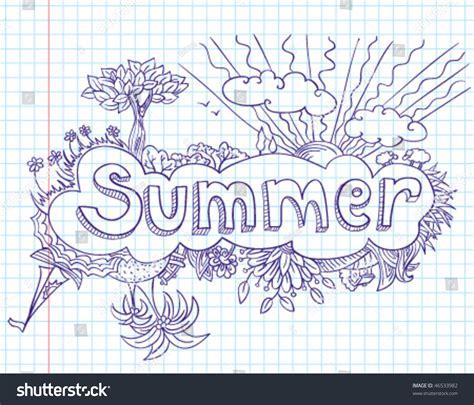 summer doodle free vector summer doodles scrapbook page stock vector illustration