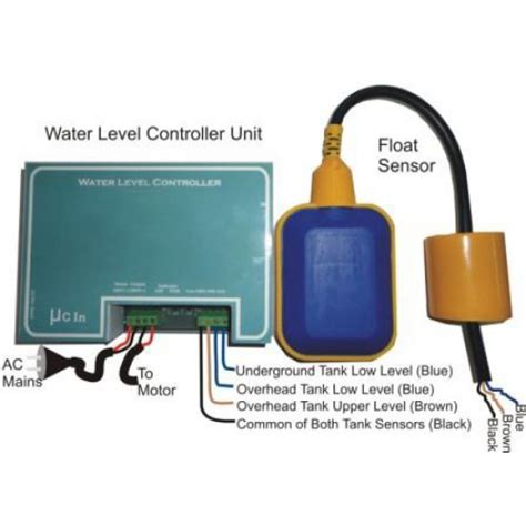 water level controller with one sensor for two level for